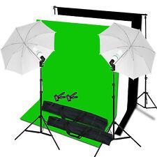 Studio Fotografico Sfondo Sostegno Nero Bianco Verde Schermo Illuminazione Stand Kit Set