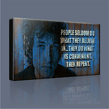 BOB DYLAN + QUOTE SUPERB RUSTIC ICONIC CANVAS POP ART PRINT PICTURE Art Williams