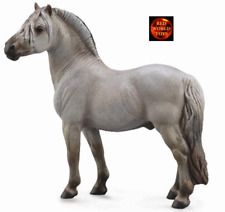 Fjord Stallion Grey Horse Toy Model Figure by CollectA 88632 Brand New