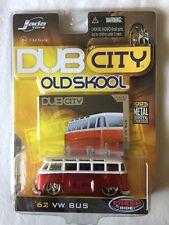 Jada Dub City Old Skool '62 1962 Volkswagen VW Bus Candy Apple Red Die-cast 1/64