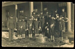 US ARMY 10th INFANTRY BAND 1910s Real Photo Postcard / RPPC
