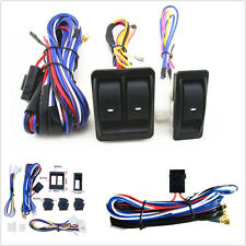 Car Auto Power Window Switch With 12V Wiring Harness Kits Universal High Quality