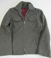 J.Crew Gray Womens Large Coat 3/4 Wool Blend