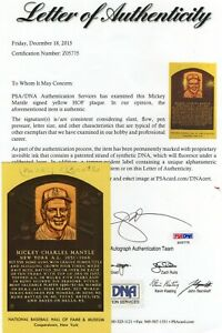 Mickey Mantle Signed Hall of Fame Postcard PSA/DNA LO..COA