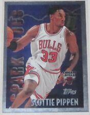 1995/96 Scottie Pippen Chicago Bulls Topps Spark Plugs Insert Card #SP10 NM Cond