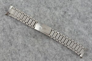 Vintage 1970s LONGINES Watch Bracelet Steel - 19mm - Ref 10-74 - Swiss