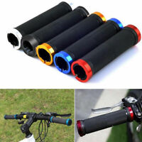 DOUBLE LOCK ON LOCKING BMX MTB MOUNTAIN BIKE CYCLE BICYCLE HANDLE BAR GRIPS 2PCS