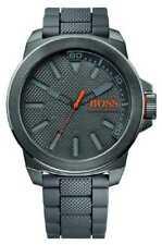 Hugo Boss Orange New York Grey Silicone 1513005 Watch - 33% OFF!