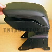 Black Car Armrest Arm Rest Center Console - Universal Storage Compartment