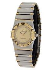 Omega Constellation Vintage 23mm 18k Gold Champagne Diamond Quartz Ladies Watch