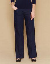 Bootcut Regular Size Linen Trousers for Women