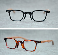 0710df5fcec Hand made Small Square Glasses frames Japan Eyeglasses Solid wood temple  Deluxe