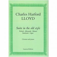 Charles Harford LLoyd Suite In The Old Style Clarinet & Piano Music Book S167