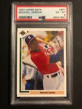 1991 Upper Deck Michael Jordan Chicago White Sox #SP1 Baseball Card PSA 6