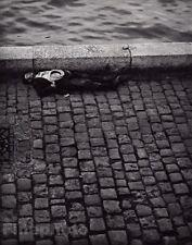 1932/68 Vintage 8x10 SEINE RIVER POVERTY Poor Homeless Man Paris France BRASSAI