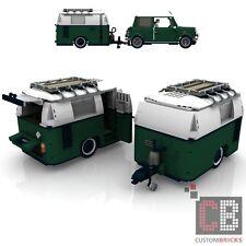 BAUANLEITUNG Eigenbau Wohnwagen Trailer Anhänger für LEGO® Steine MOC Mini 10242