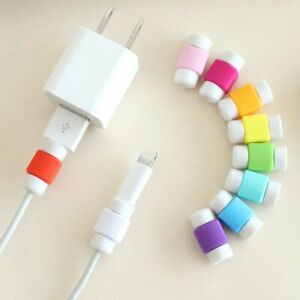 Earphone Wire USB Data Cable Protector Headphone Winder For iPhone