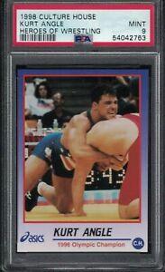 1998 Culture House KURT ANGLE Olympic Champion Rookie Wrestling Card PSA 9 MINT