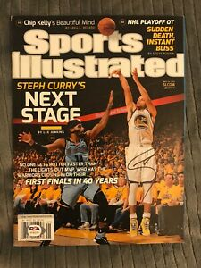 STEPHEN CURRY Golden State Warriors SIGNED SPORTS ILLUSTRATED NO LABEL