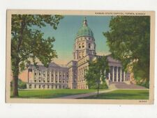 Kansas State Capitol Topeka Vintage USA Postcard 506a