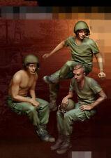 resin figures model garage kit 1:35 Vietnam war 3 US soldiers resting RN1898