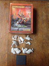 Warhammer 40k. Chaos Lord Of Khorne On Daemonic Mount, Mounted. Metal.