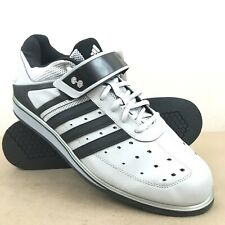 227aef1f020e61 Adidas Mens 11 PowerLift Trainer Weightlifting Shoes G45632 Gray Black  CrossFit