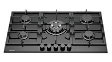 MILLAR GH9051TB 5 Burner Built-in Gas on Glass Gas Hob 90cm with Wok Burner