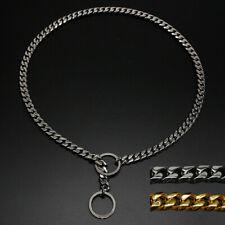 Snake Chain Dog Collar Heavy Duty Training P-Choke/Check Slip Show Gold Doberman