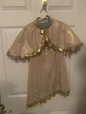 Disney Store Pocahontas Costume Child Size Small 5/6 Gold Fringe Dress Jacket