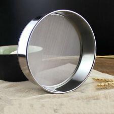 Stainless Steel Flour Sieve Kitchen Fine Mesh Oil Strainer Sifter Sugar Filter