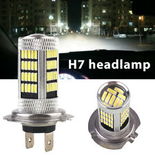 LED Headlight H7 Front Lamp Daytime Running Light 4014 92SMD Driving Lamp 6500K