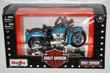 Maisto - Harley Davidson 1952 K Model (Blue) 1:18