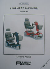 Sterling SAPPHIRE 3 & 4 Wheel Scooter User Owner Manual Guide
