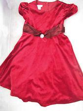 NEW girls BONNIE JEAN CHRISTMAS DRESS red velvet FULL crinoline FANCY bow SIZE 6
