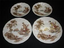 RETRO VINTAGE PORCELAIN PLATES & SAUCERS X 2 JOHNSON BROS ENGLAND THE OLD MILL