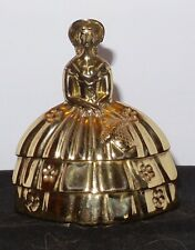 VIntage Brass Lady Figurine Bell Nice Heavy Weight
