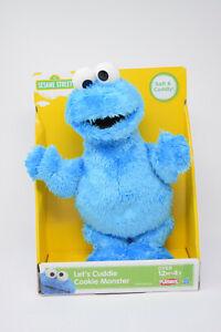 "2012 Sesame Street LETS CUDDLE COOKIE MONSTER Super Soft 11"" Plush Toy PLAYSKOOL"