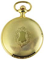 Taschenuhr Weiß Gold Klassik Wappen Analog Quarz Metall D-180302000050500