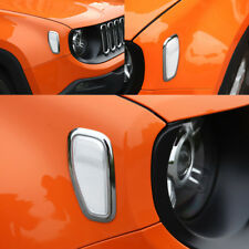 For Jeep Renegade 15-2018 Chrome Front Side Turn Signal Light Lamp Cover Trim