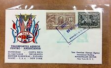 {BJ Stamps}  TACA  1943 Nicaragua 1st Flight cover and Costa Rica museum booklet