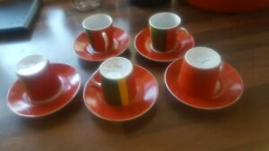 Vintage Habitat Cuenca Tunisia Coffee expresso cups  x 5 sunday mornings after..