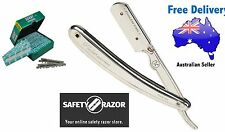 Parker Safety Razor 31R Stainless Steel Shavette Razor PLUS 100 Derby Blades
