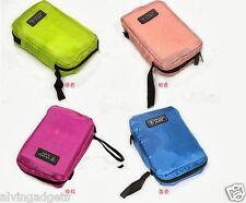 Travel Mate Compartment Organizer Toiletries MakeUp Cosmetic Pouch Bag(Fuschia P