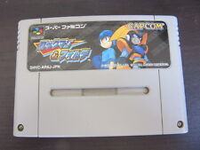 Super Famicom Rockman and Forte Mega man Japan SFC SNES