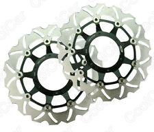 Front Brake Disc Rotor Rotors For Honda CBR600 F4i 2001-2006 02 03 04 05 Black