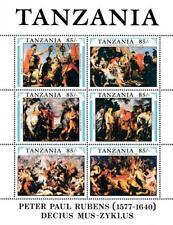 👉 TANZANIA 1991 RUBENS famous PAINTINGS S/S + M/S MNH