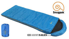 Snugpak THE NAVIGATOR (BASECAMP) BLUE 2/3 Season, Square Sleeping Bag with Hood