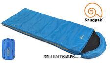 Snugpak THE NAVIGATOR (BASECAMP) BLUE 2/3 Season, Square Sleeping Bag with Hood