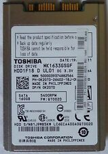"1.8"" Toshiba 160GB 5400RPM 16MB cache SATA2 Internal Hard Drive MK1633GSGF"